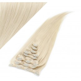 "15"" (40cm) Clip in human REMY hair - platinum blonde"
