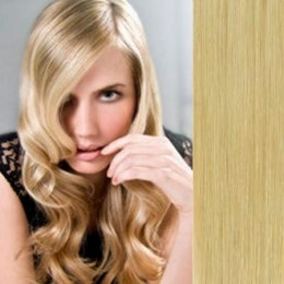 """20"""" (50cm) Clip in human REMY hair - natural blonde"""