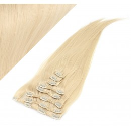 """20"""" (50cm) Clip in human REMY hair - the lightest blonde"""