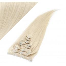 "20"" (50cm) Clip in human REMY hair - platinum blonde"