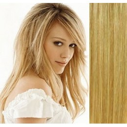 "24"" (60cm) Clip in human REMY hair - light blonde/natural blonde"