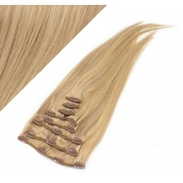 """24"""" (60cm) Clip in human REMY hair - light blonde/natural blonde"""