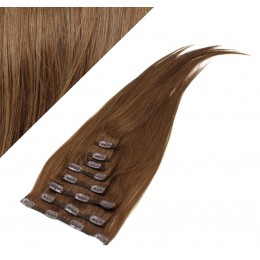 "28"" (70cm) Clip in human REMY hair - medium brown"