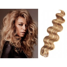 24˝ (60cm) Tape Hair / Tape IN human REMY hair wavy - natural blonde / light blonde