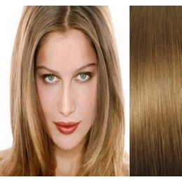"15"" (40cm) Clip in human REMY hair 100g - light brown"
