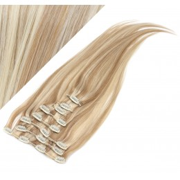 "15"" (40cm) Clip in human REMY hair 100g - mixed blonde"
