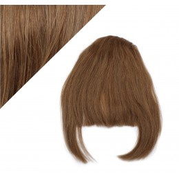 Clip in human hair remy bang/fringe - medium brown
