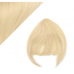 Clip in human hair remy bang/fringe - the lightest blonde