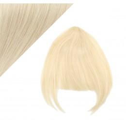 Clip in human hair remy bang/fringe - platinum blonde