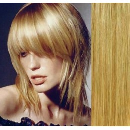 Clip in human hair remy bang/fringe – light blonde/natural blonde