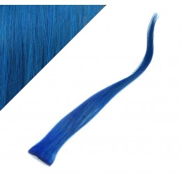 "20"" (50cm) clip in human hair streak - blue"