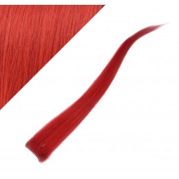 "20"" (50cm) clip in human hair streak - red"