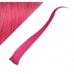 "20"" (50cm) clip in human hair streak - pink"