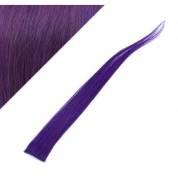 "20"" (50cm) clip in human hair streak - purple"
